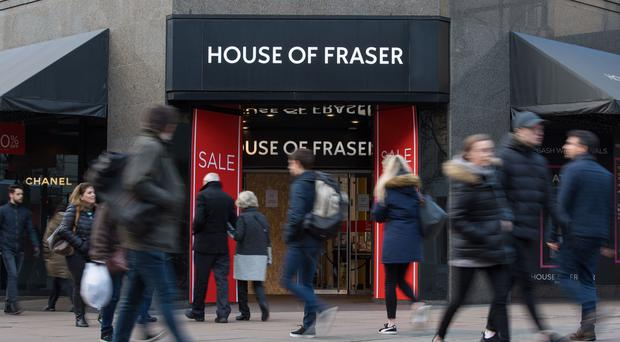 House of Fraser is the latest victim of turmoil on the high street (Dominic Lipinski/PA)