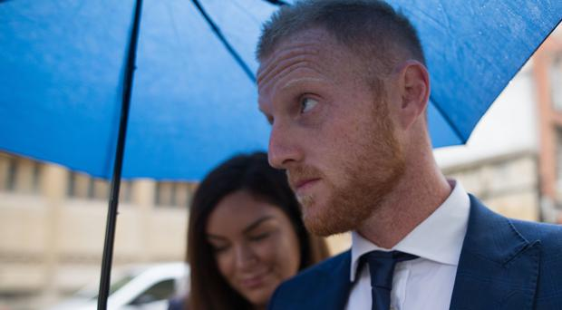 England cricketer Ben Stokes and his wife Clare arrive at Bristol Crown Court (Aaron Chown/PA)
