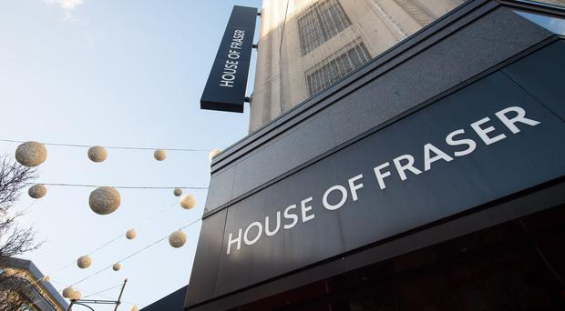 House of Fraser said 'significant progress has been made' in reaching a sale of the group's business and assets (Dominic Lipinski/PA)