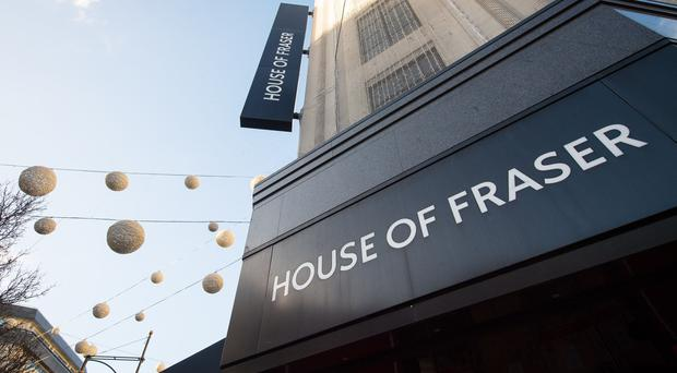 The upmarket chain House of Fraser, which had gone into administration, has been bought by another chain, Sports Direct, for £90m, and this has provided a lifeline for the well-known store and its staff in Belfast. (Dominic Lipinski/PA)