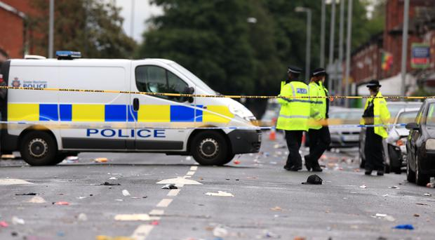 Children were among those injured after the shooting (Peter Byrne/PA)