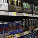Shelves of energy drinks in a supermarket as scientists warn of the effects of mixing them with alcohol (Yui Mok/PA)