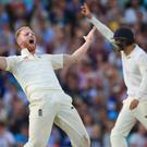 Ben Stokes celebrates taking a wicket (Adam Davy/PA)