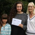 Ezgi Aldemir with mother Susan and sister Erin (Truro High School for Girls/PA)