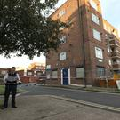 Police officers outside Landor House, Camberwell (Jonathan Brady/PA)