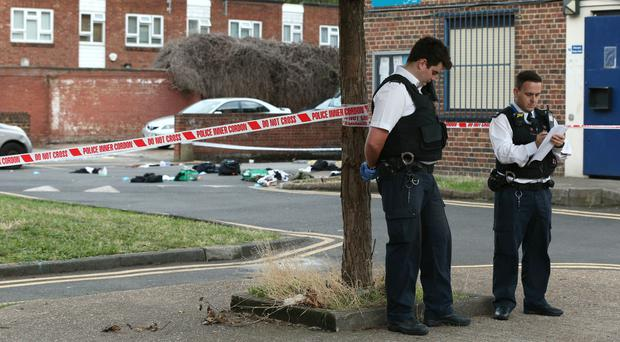 Four young men were stabbed on a south London housing estate (Jonathan Brady/PA)