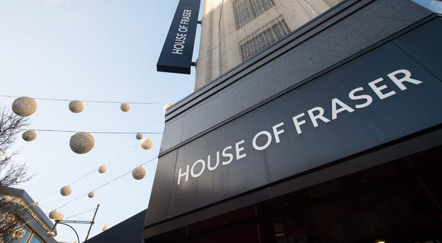 Designer brands have been left out of pocket by House of Fraser's administration (Dominic Lipinski/PA)