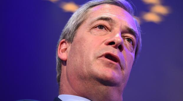 Former Ukip leader Nigel Farage says he is going back on the road to challenge Theresa May's Brexit plan (Kirsty O'Connor/PA)