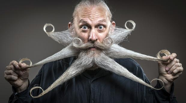 Aarne Bielefeld attends the fourth British Beard and Moustache Championships (Danny Lawson/PA)