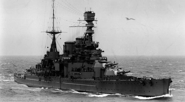 HMS Repulse was sunk by Japanese aircraft of the coast of Singapore (PA)