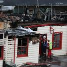 A fire almost destroyed the Old Royal Station in Ballater, Aberdeenshire (Andrew Milligan/PA)