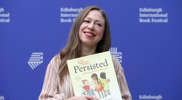 Chelsea Clinton during a photocall at the Edinburgh International Book Festival (Jane Barlow/PA)