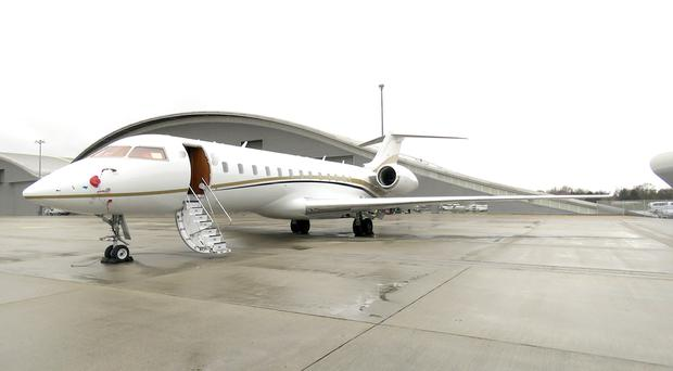 A twin-engined private jet used bring cocaine from Colombia into the UK.