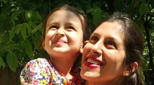 Nazanin Zaghari-Ratcliffe with her daughter Gabriella, after the charity worker was been given temporary release from prison in Iran for three days (The Free Nazanin campaign/PA)