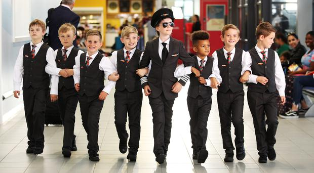 EasyJet reimagined a scene from Catch Me If You Can at London Southend Airport (easyJet/PA)