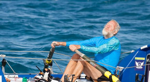 Steve Sparkes has become the first blind person to row the Pacific Ocean (Ellen Hoke Photography)