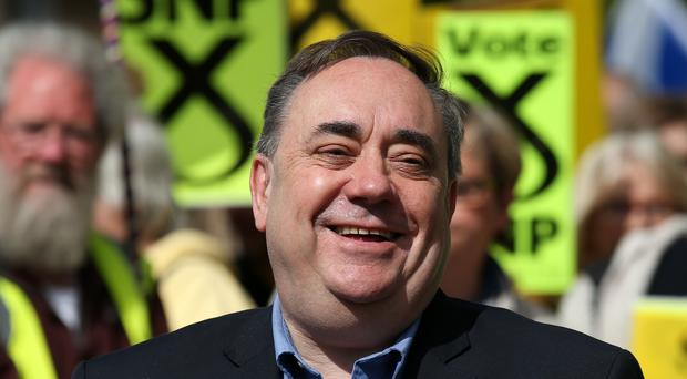 Alex Salmond has resigned from the SNP after it emerged he faced claims of sexual harassment (Andrew Milligan/PA)