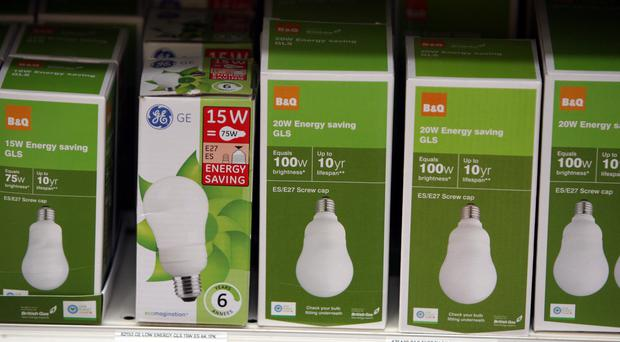 The advice is to replace halogens with LEDs as and when the old bulbs expire (Steve Parsons/PA)