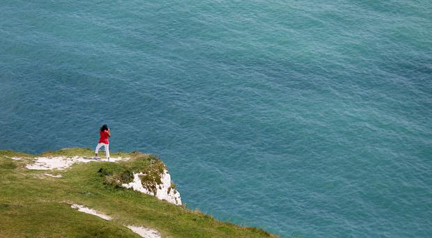 The drama unfolded off the coast of Dover (Gareth Fuller/PA)