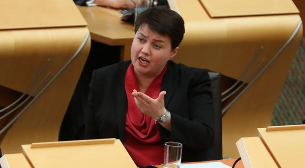 Scottish Conservative leader Ruth Davidson wants Nicola Sturgeon to rule out a second independence vote in her programme for government (Andrew Milligan/PA)