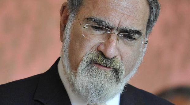 Lord Sacks said Jewish people were thinking about leaving the UK because of the current atmosphere (Toby Melville/PA)