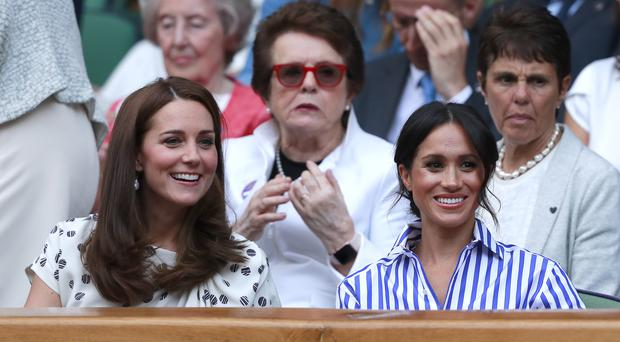 The Duchess of Cambridge and the Duchess of Sussex are royal style influencers (Andrew Couldridge/PA)
