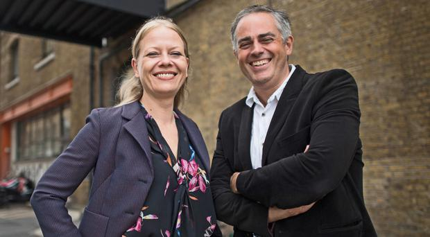 Newly appointed joint Green Party leaders Sian Berry and Jonathan Bartley (Stefan Rousseau/PA)