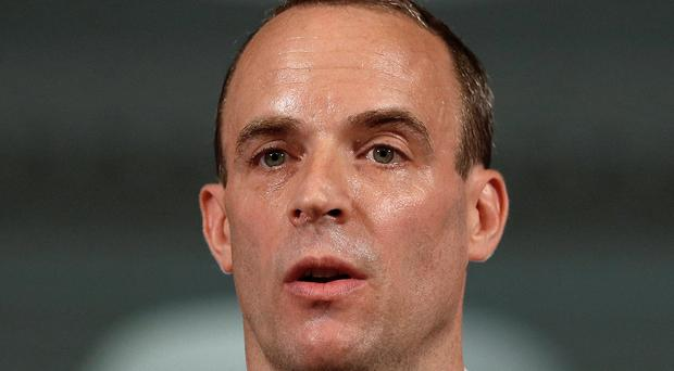 Dominic Raab will travel to Brussels on Thursday following a grilling by MPs in which he was told the EU man believes Theresa May's Chequers blueprint is 'dead' (Peter Nicholls/PA)