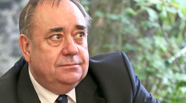 Alex Salmond resigned his membership of the SNP following allegations of sexual harassment (Jane Barlow/PA)