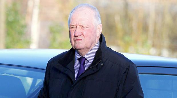 David Duckenfield spoke only to confirm his name and enter his plea (Peter Byrne/PA)