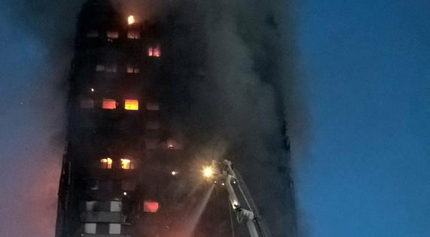 A photograph taken by firefighter Brett Loft at the scene of the Grenfell Tower blaze (Grenfell Tower Inquiry/PA)