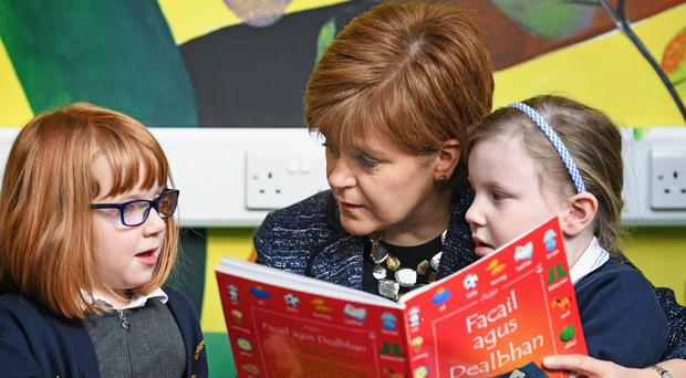 Nicola Sturgeon set up the challenge to encourage youngsters to read (Jeff J Mitchell/PA)