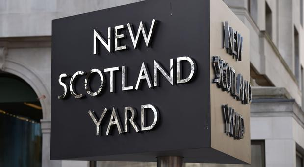 The New Scotland Yard sign (Kirsty O'Connor/PA)