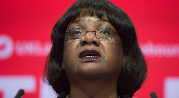 Diane Abbott has said Labour will increase police numbers but was unable to say how much it would cost (Stefan Rousseau/PA)