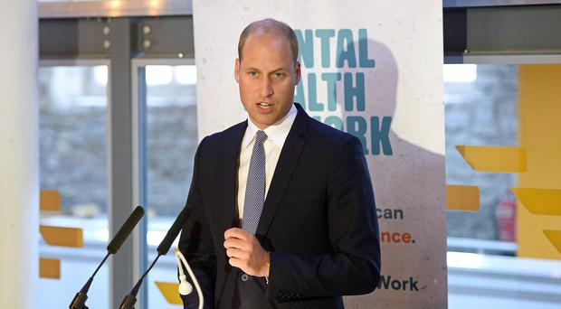 The Duke of Cambridge makes a speech during a visit to the Engine Shed in Bristol to launch the Mental Health at Work project (Eamonn McCormack/PA)