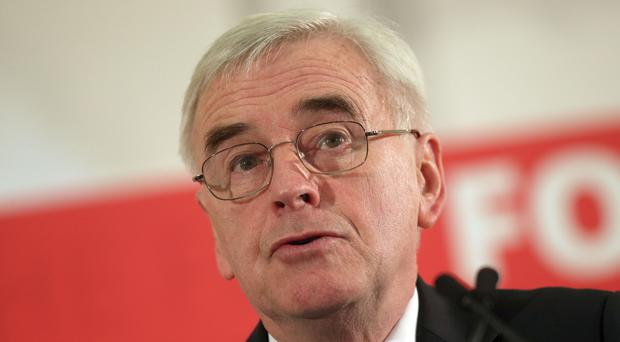Shadow Chancellor John McDonnell received a standing ovation from the TUC Congress in Manchester (Steve Parsons/PA)