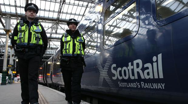 Police are investigating after a person struck by a train in Glasgow died (Andrew Milligan/PA)