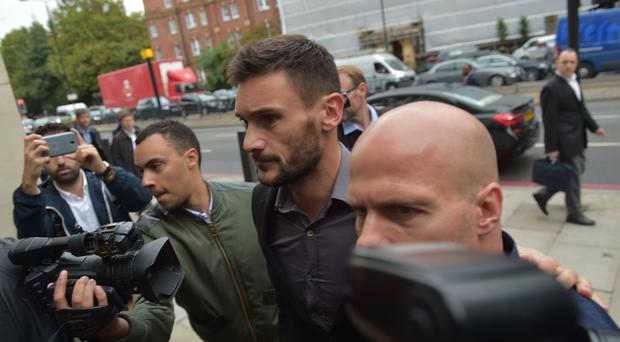 Hugo Lloris arrives at Westminster Magistrates' Court (Nick Ansell/PA)