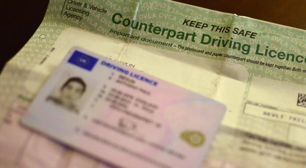A UK driving licence (Anthony Devlin/PA)