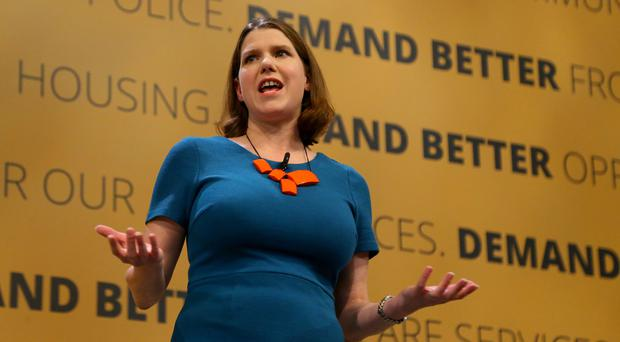Liberal Democrats deputy leader Jo Swinson speaks at the party's Autumn Conference (Gareth Fuller/PA)