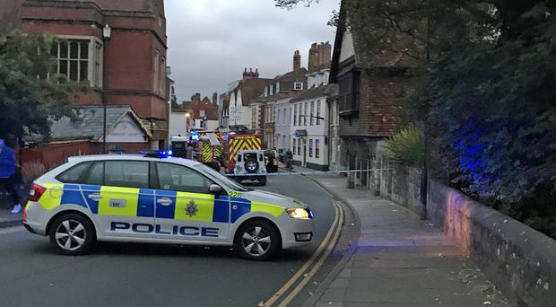 Emergency services in Salisbury (Sam Proudfoot/PA)
