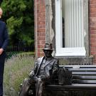 The Duke of Cambridge unveils a new sculpture of Major Frank Foley at Mary Stevens Park, Stourbridge. PRESS ASSOCIATION Photo. Picture date: Tuesday September 18, 2018. See PA story ROYAL Cambridge (Anthony Devlin/PA)