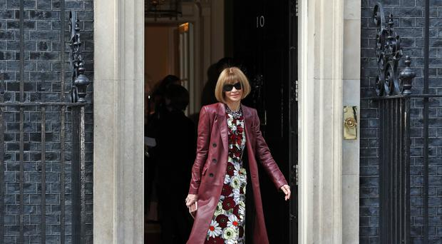 Anna Wintour was among those to attend the Downing Street reception (Jonathan Brady/PA)