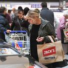 Customers shop in Tesco's new Jack's store in Chatteris, Cambridgeshire (Joe Giddens/ PA)