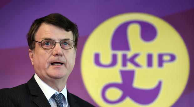 Gerard Batten is unveiling Ukip's new manifesto (Joe Giddens/PA)