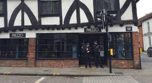Emergency services declared a major incident and Prezzo and the surrounding area was sealed off (Ben Mitchell/PA)