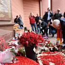 Labour leader Jeremy Corbyn visits the Hillsborough memorial at Anfield (Stefan Rousseau/PA)
