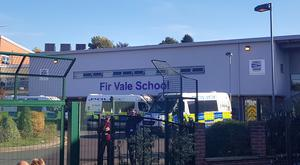 Police at the scene at Fir Vale School in Sheffield (Dave Higgins/PA)