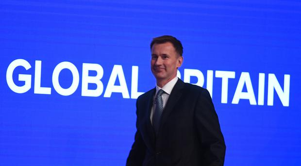 Foreign Secretary Jeremy Hunt at the Conservative Party annual conference in Birmingham (Stefan Rousseau/PA)
