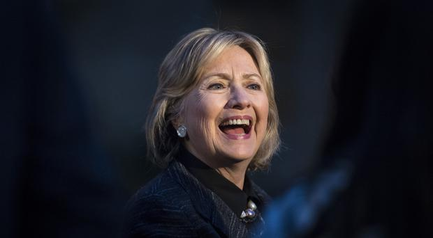 Hillary Clinton at the unveiling of a new statue of Eleanor Roosevelt (Victoria Jones/PA)